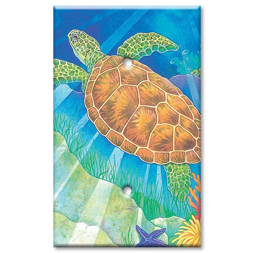 Art Plates Sea Turtle Blank Wall Plate