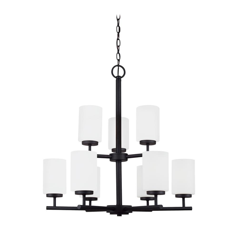 Oslo 9-Light Blacksmith Chandelier with LED Bulbs