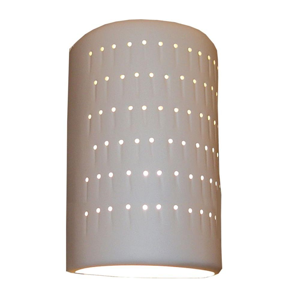 Daniel 2-Light Paintable Bisque Ceramic Outdoor Wall Sconce