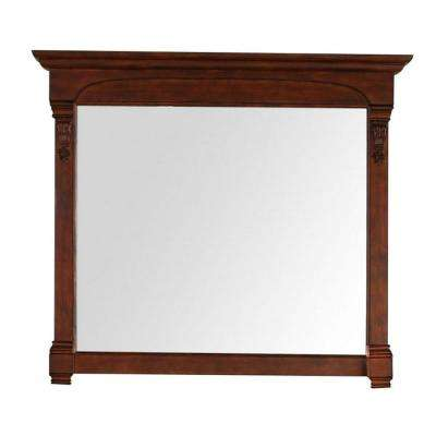 Brookfield 47 in. W x 42 in. H Framed Wall Mirror in Warm Cherry