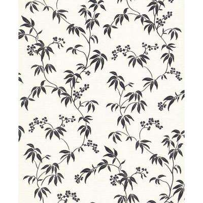 Madison Florals Off-White Bamboo Wallpaper Sample