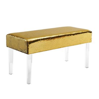 Trisha Mermaid Sequin Acrylic Leg Bench