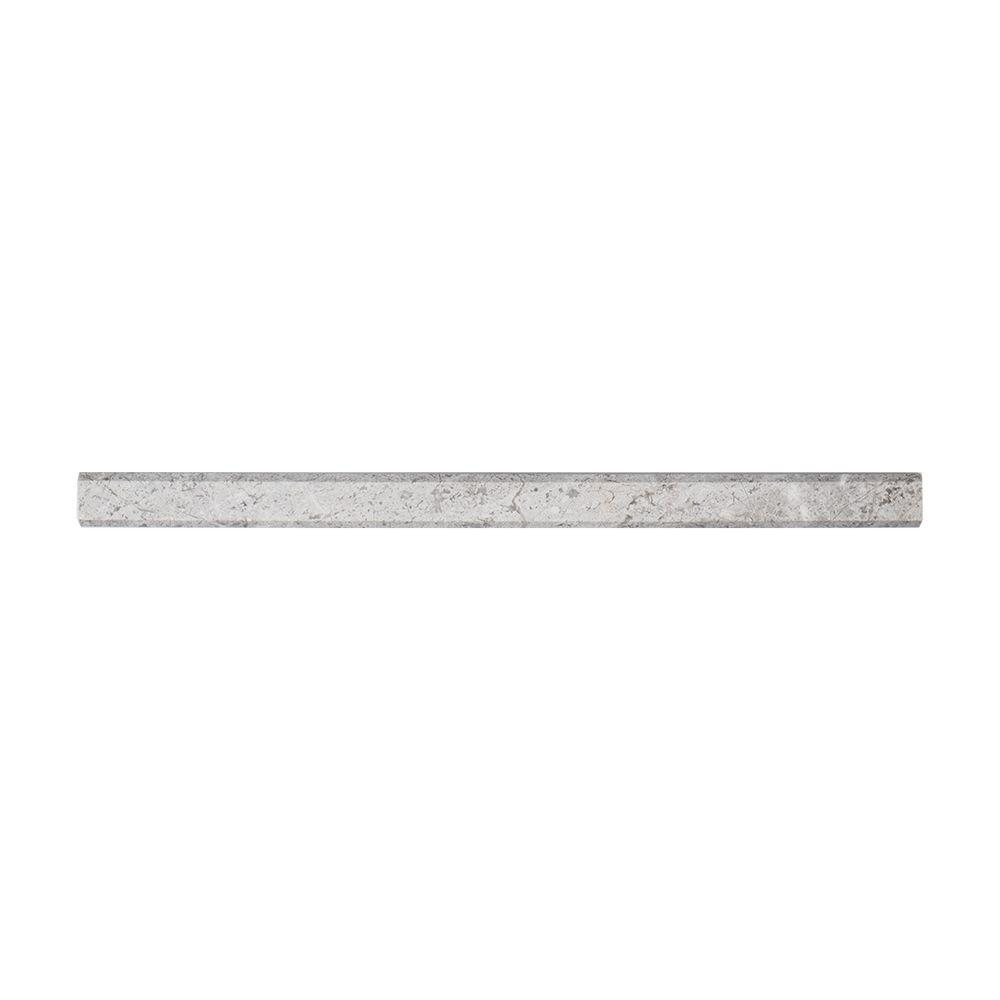 Jeffrey Court Knight Grey 3/4 in. x 12 in. Marble Dome Wall Tile