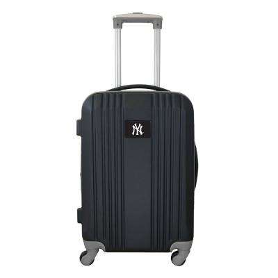 MLB New York Yankees 21 in. Gray Hardcase 2-Tone Luggage Carry-On Spinner Suitcase