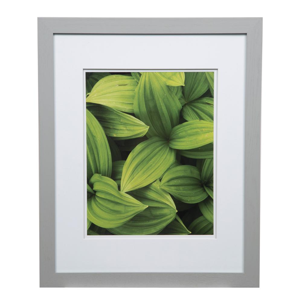 Pinnacle Gallery 11 In X 14 In Gray Double Mat Picture Frame