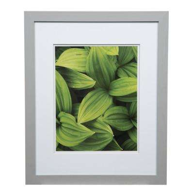 Gallery 11 in. x 14 in. Gray Double Mat Picture Frame