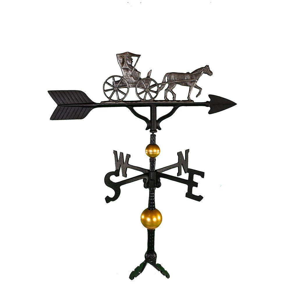 Montague Metal Products 32 in. Deluxe Swedish Iron Country Dr. Weathervane