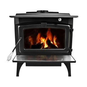 Pleasant Hearth 1,800 Sq. Ft. EPA Certified Wood-Burning Stove with Medium Blower