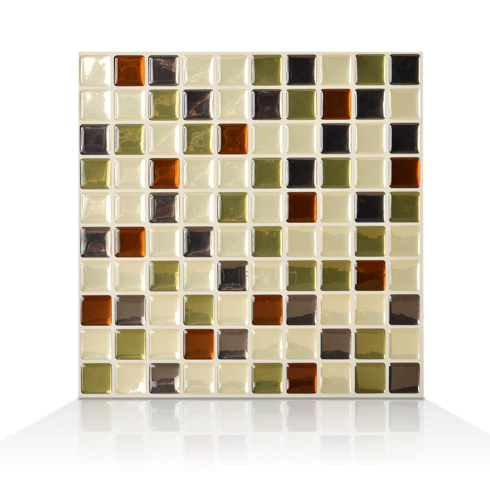 Smart Tiles Idaho 9.85 in. W x 9.85 in. H Peel and Stick Self ...