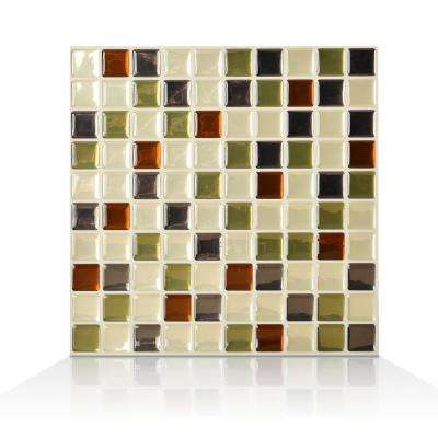Idaho 9.85 in. W x 9.85 in. H Peel and Stick Self-Adhesive Decorative Mosaic Wall Tile Backsplash (6-Pack)