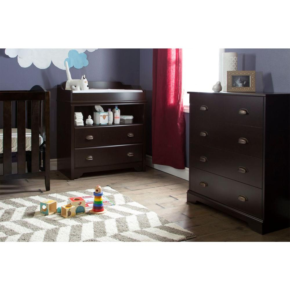 South Shore Fundy Tide 2 Drawer Espresso Changing Table