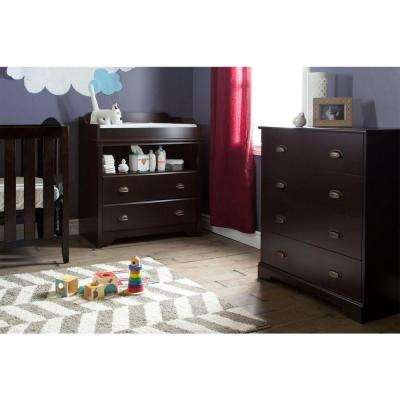 Fundy Tide 2-Drawer Espresso Changing Table