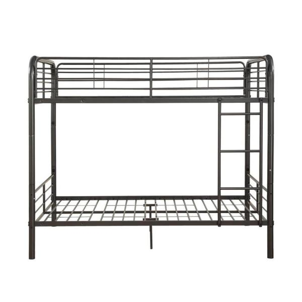 Amelia Gray Gunmetal Metal Tube Full Bunk Bed