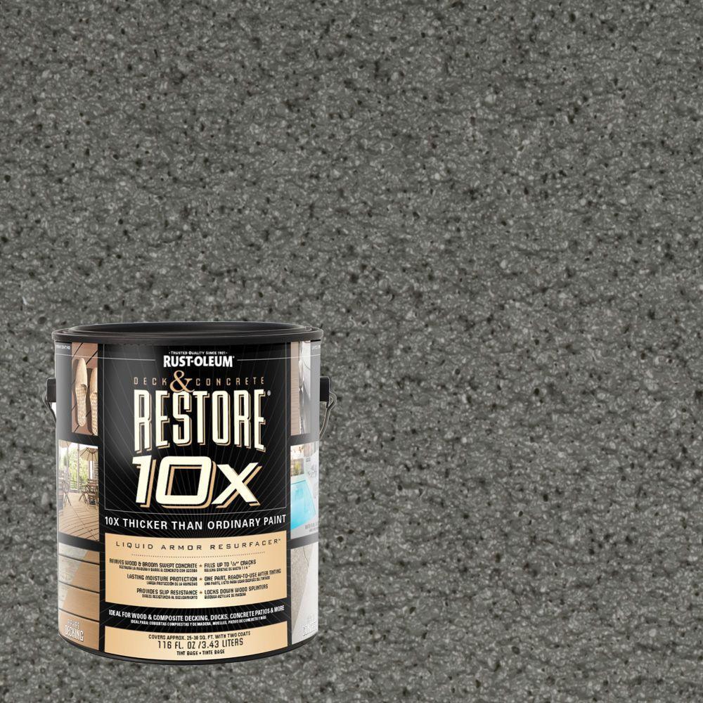 Rust-Oleum Restore 1-gal. Pewter Deck and Concrete 10X Resurfacer