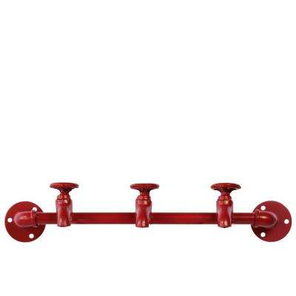 Coated Red Coat Hanger with Plumbing Theme