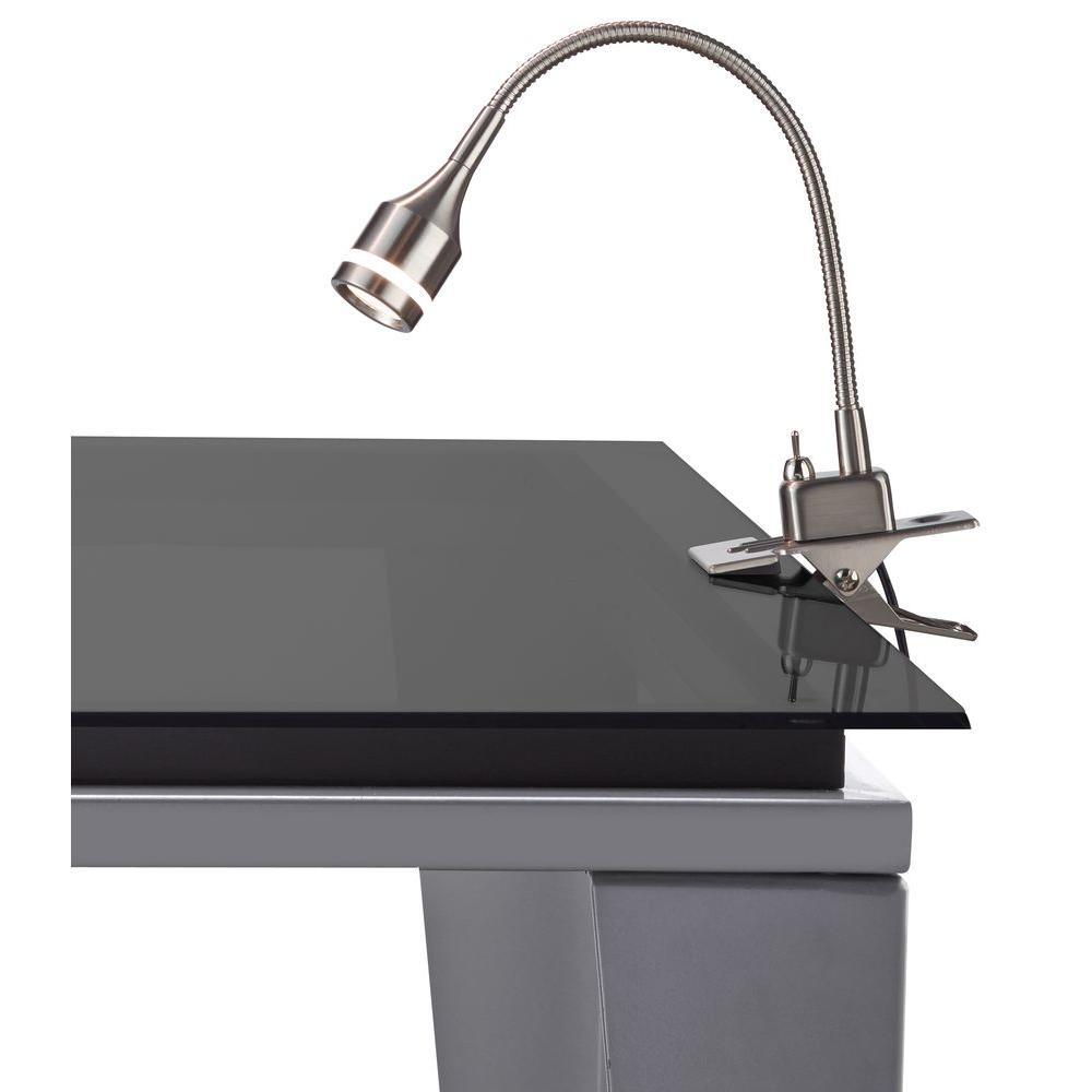 14.5 in. Steel Prospect LED Clip Lamp