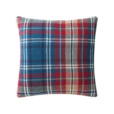 Blue Rockwell Plaid 18 in. x 18 in. Standard Throw Pillow