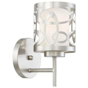 Links 1 Light Brushed Nickel Wall Sconce