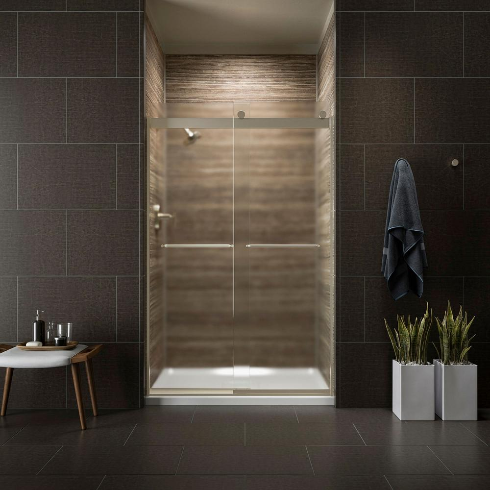 KOHLER Levity 48 in. x 74 in. Semi-Frameless Sliding Shower Door in ...