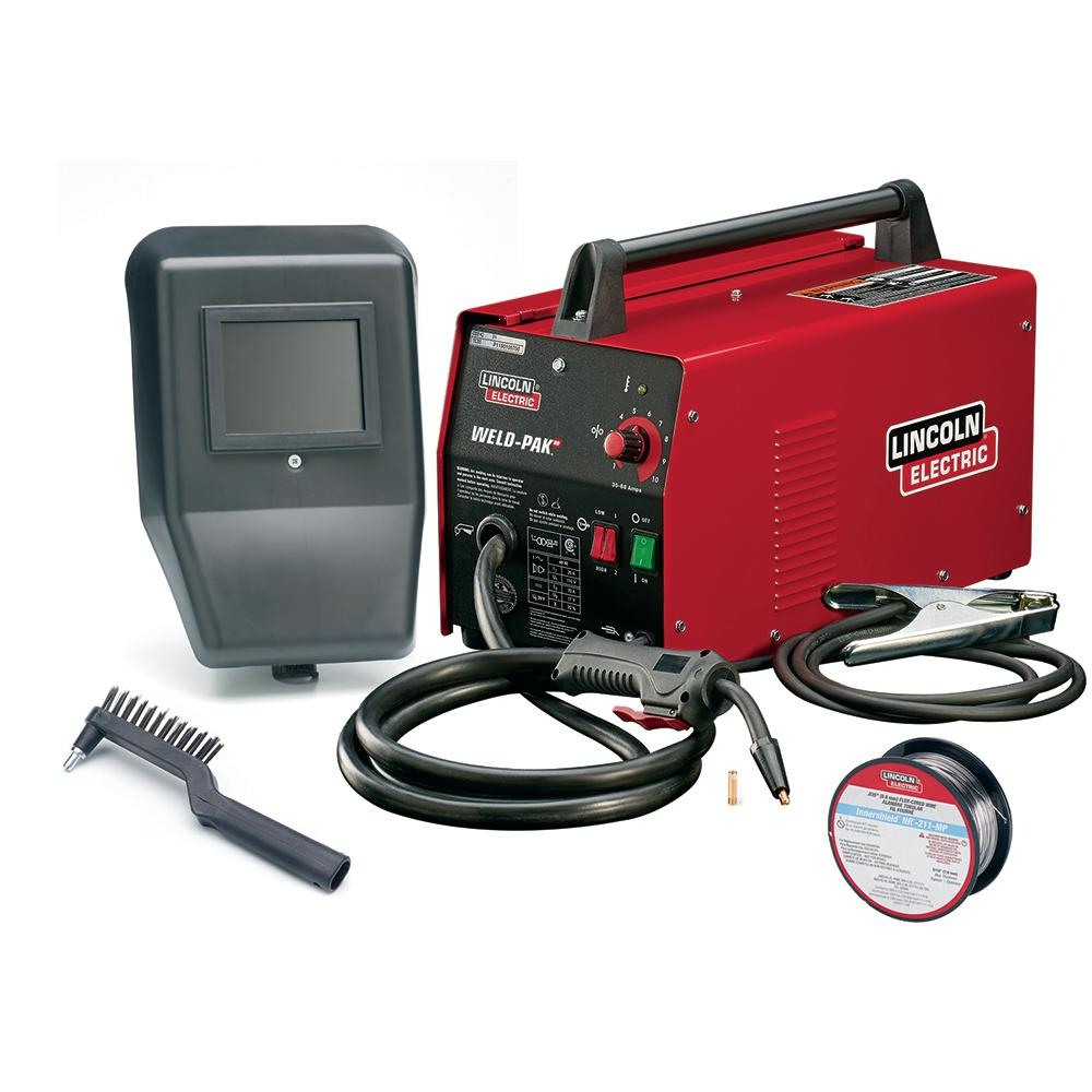 88 Amp Weld Pack Hd Flux Core Wire Feed Welder For Welding Up To 1 8 In Mild Steel 115 Volt