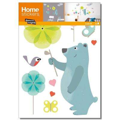 Multicolor Blue Bear/Kids Home Sticker