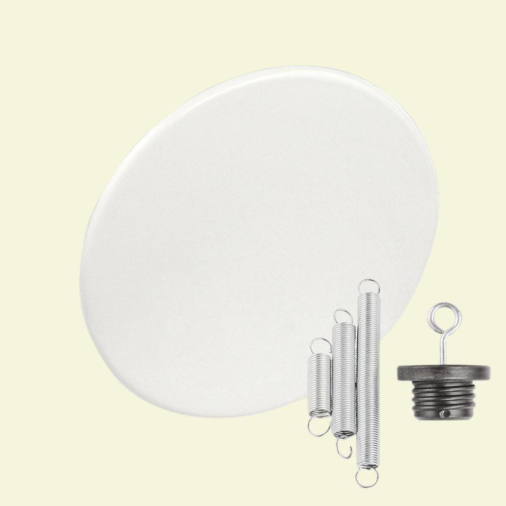 Round 6 in. White Recessed Can-Light with Blank-Up Cover