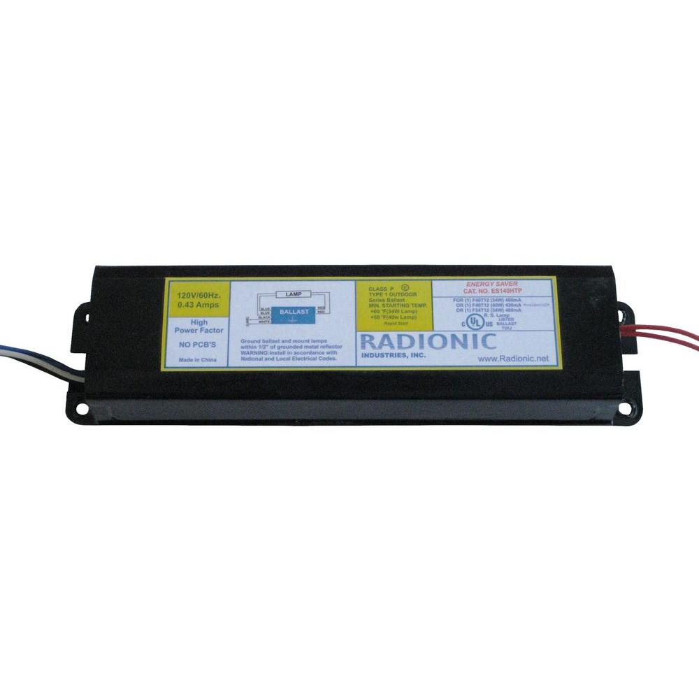 Radionic Hi Tech High Power Factor Ballast for 1 F34/40T12 Lamp