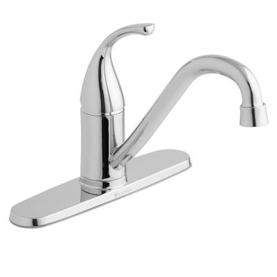 Builders Single-Handle Standard Kitchen Faucet in Chrome