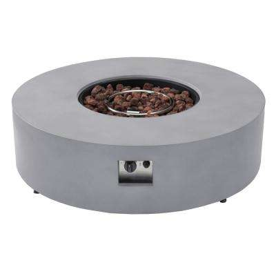 Sacramento 42 in. x 12 in. Round MGO Concrete Propane Powered Fire Pit Table