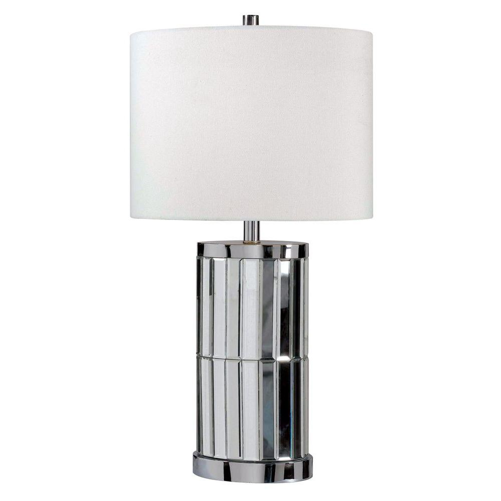 Kenroy Home Lustre 28 in. Chrome Mirror Table Lamp