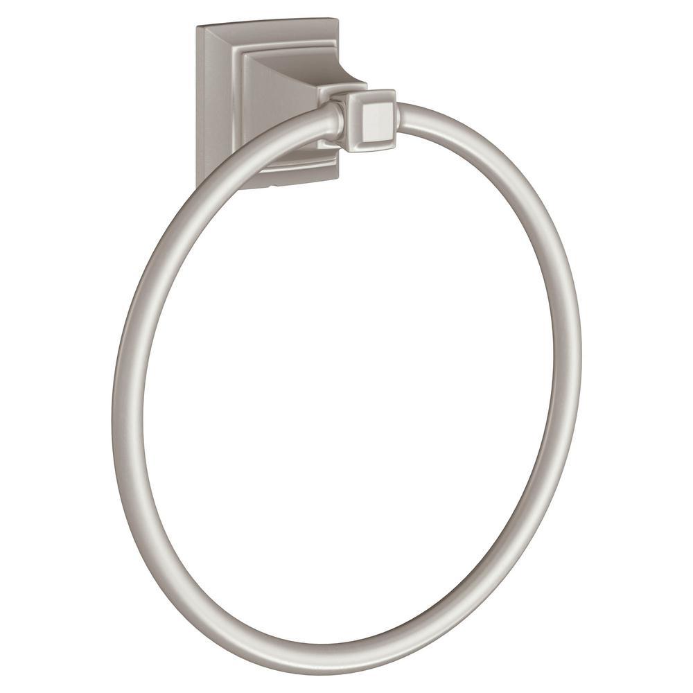 TS Series Towel Ring in Brushed Nickel