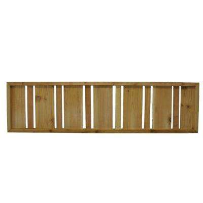 45.75 in. x 12 in. Western Red Cedar Semi Private Solid Pattern Framed Lattice Fence Panel (2-Pack)