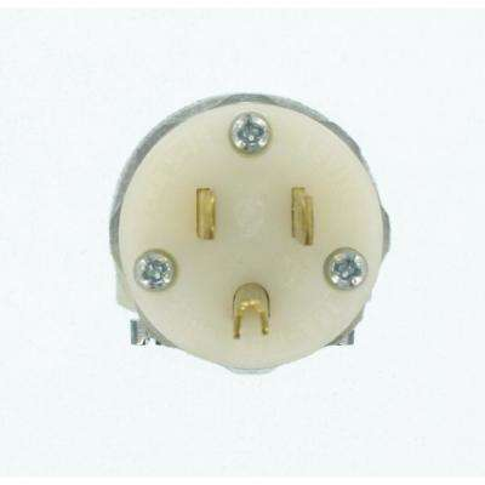 15 Amp 125-Volt Hospital Grade Straight Blade Grounding, Plug, Transparent/White