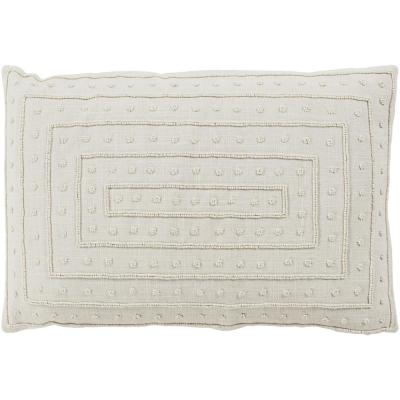 Athelstane Ivory Solid Polyester 18 in. x 18 in. Throw Pillow