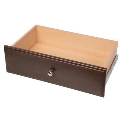 24 in. x 8 in. Espresso Wood Deluxe Drawer
