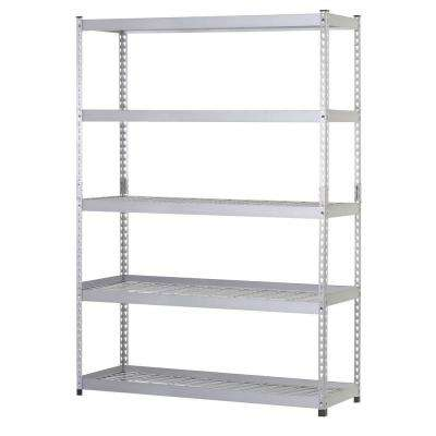78 in. H x 60 in. W x 24 in. D 5-Shelf Steel Commercial Shelving Unit