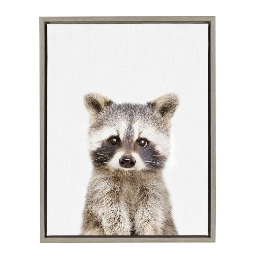 "Sylvie ""Animal Studio Raccoon"" by Amy Peterson Framed Canvas Wall Art"
