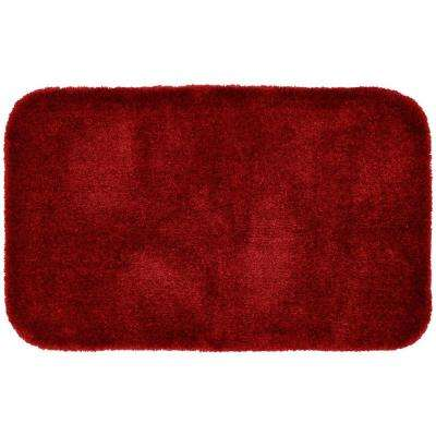 Finest Luxury Chili Pepper Red 24 in. x 40 in. Washable Bathroom Accent Rug