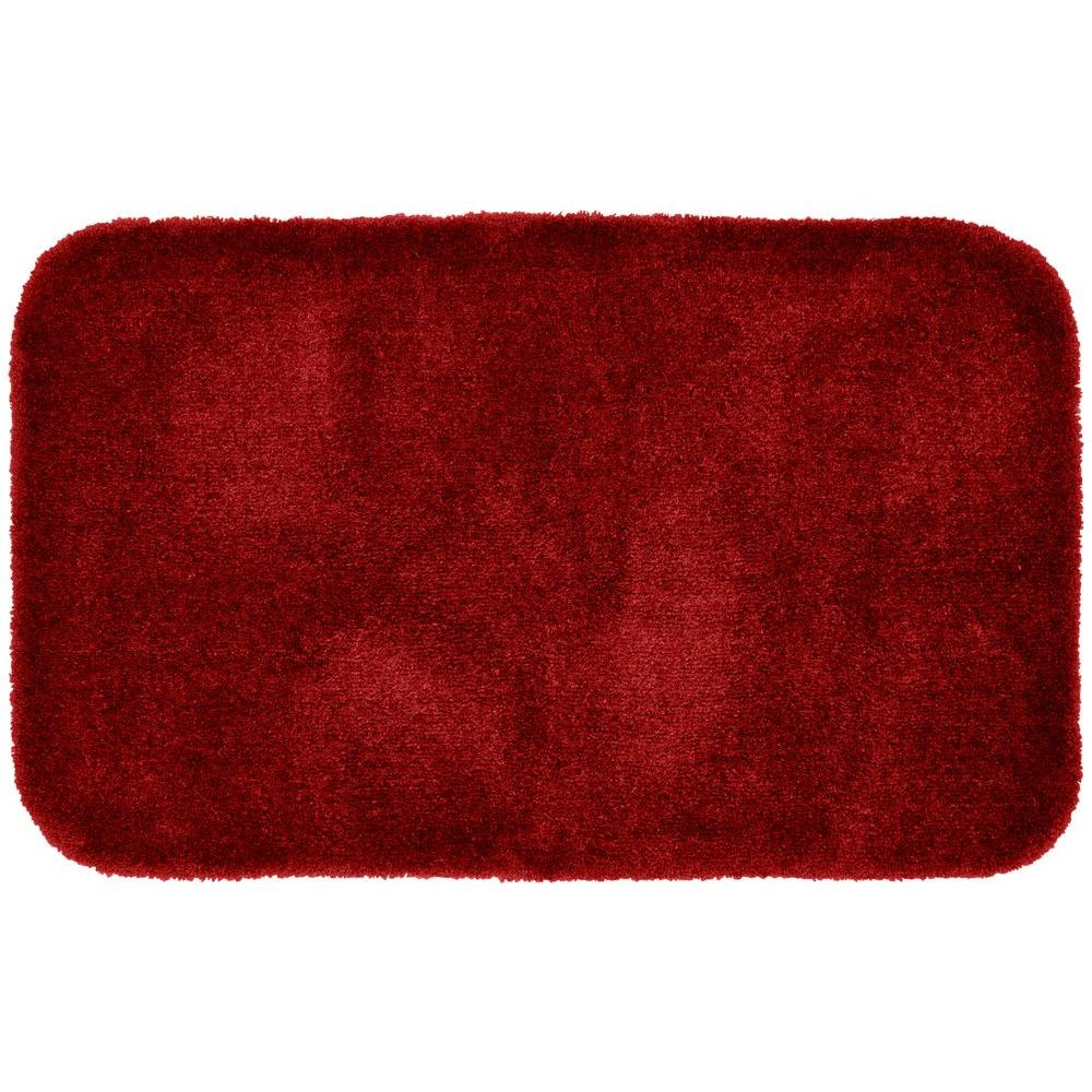 Finest Luxury Chili Pepper Red 24 in. x 40 in. Washable