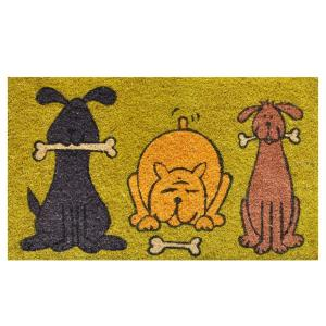 Home & More Doggie Fun Door Mat 17 inch x 29 in. by Home & More