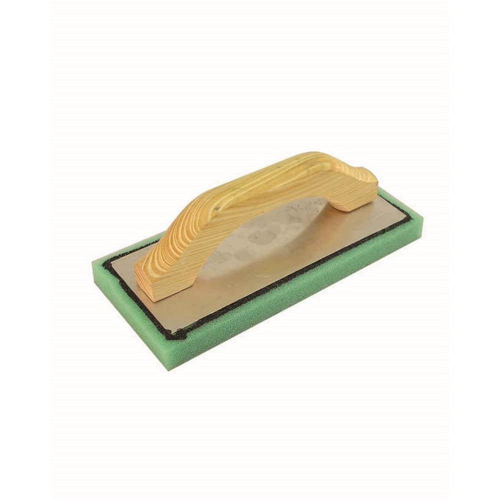 9-1/2 in. x 4 in. Green Foam Float with Wood Handle