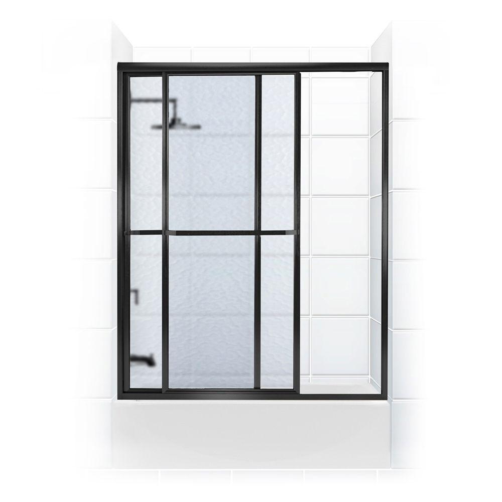 Coastal Shower Doors Paragon Series 52 In X 56 In Framed Sliding
