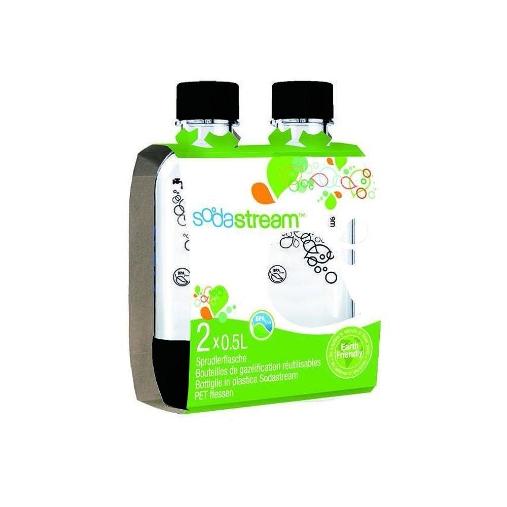 SodaStream 0.5 L Carbonating Bottles-Black (2 Twinpacks)