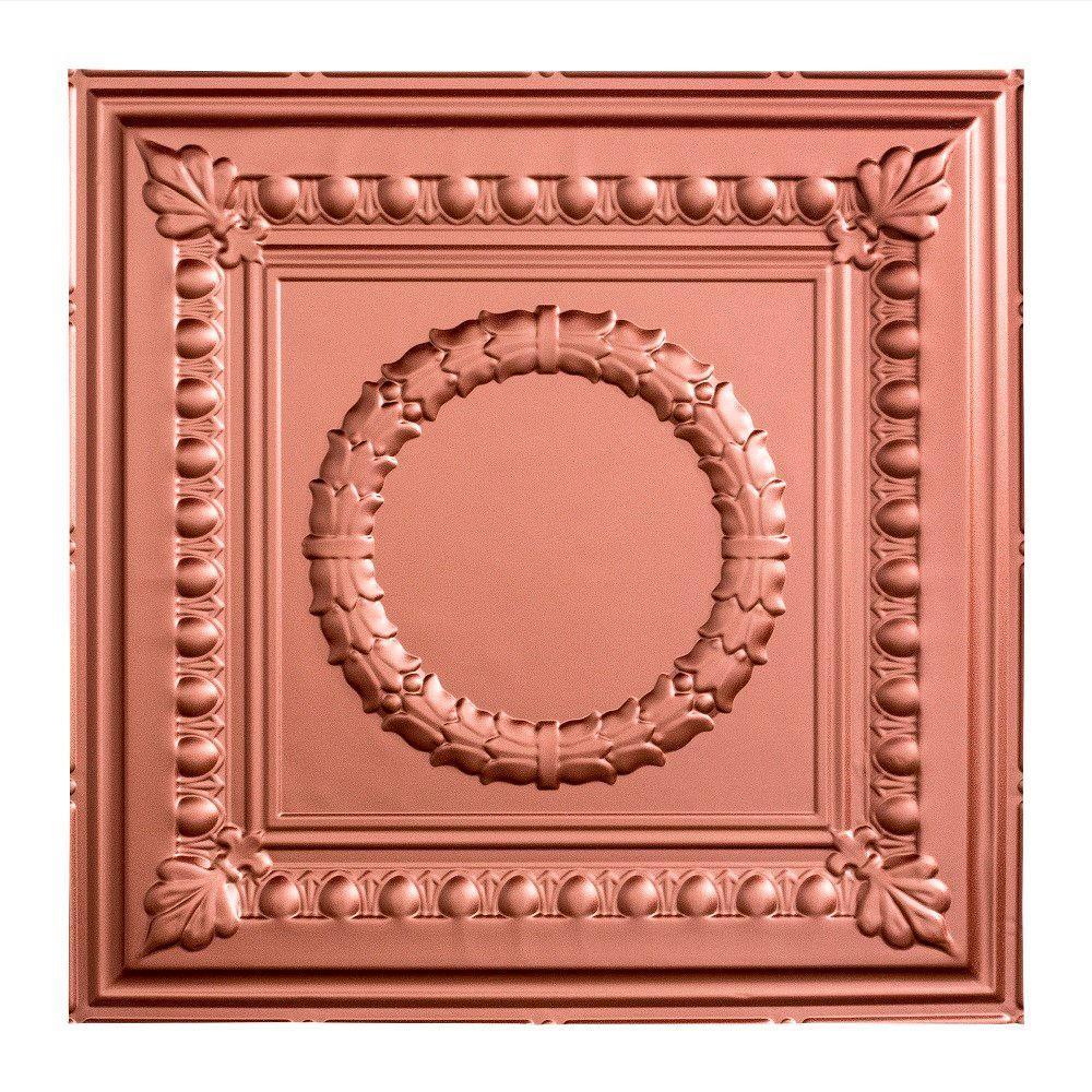 Rosette - 2 ft. x 2 ft. Lay-in Ceiling Tile in