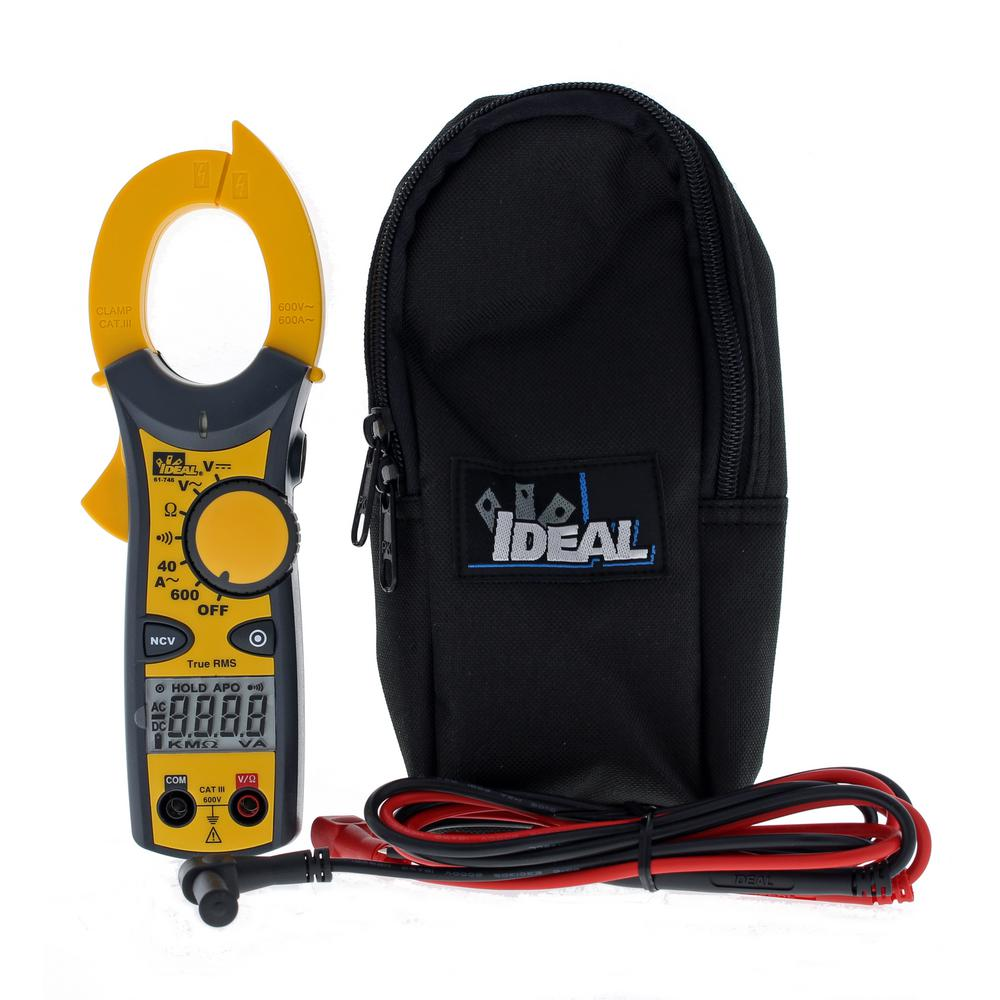 Ideal Clamp Meter 600 Amp AC with NCV and TRMS