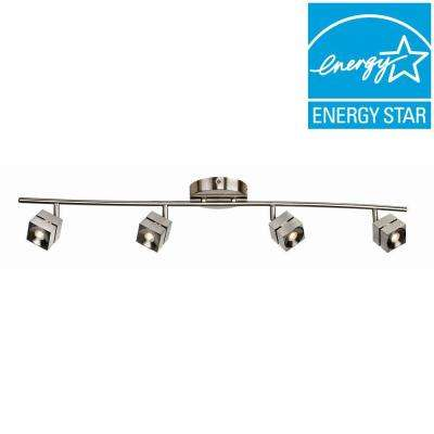 Orly 4-Light Satin Nickel LED Fixed Track Lighting