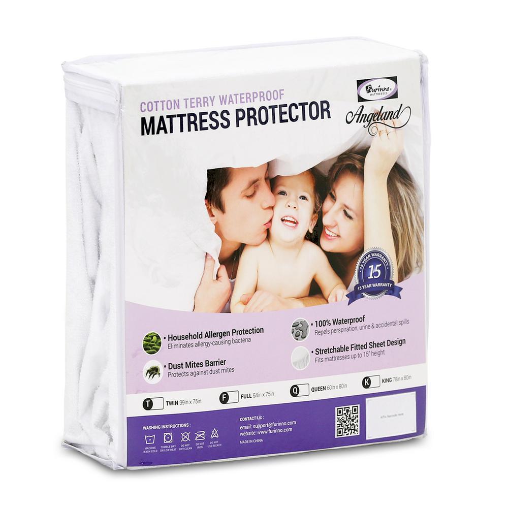 Furinno Waterproof Hypoallergenic Mattress Protector - Queen MP15007Q