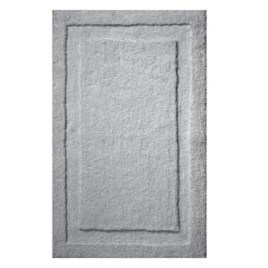 Click here to buy interDesign 34 inch x 21 inch Spa Bath Rug in Gray by interDesign.