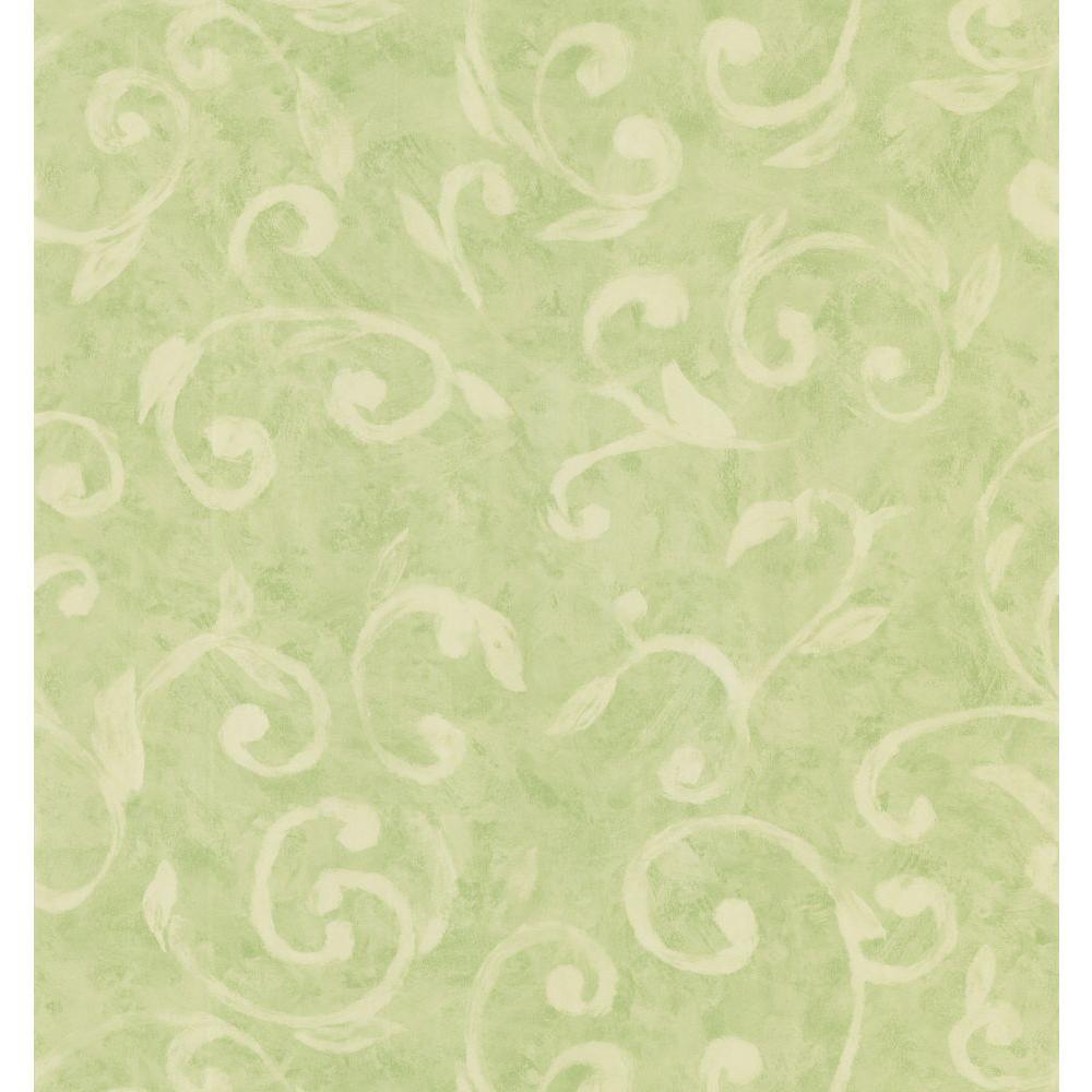 Brewster Scroll Wallpaper