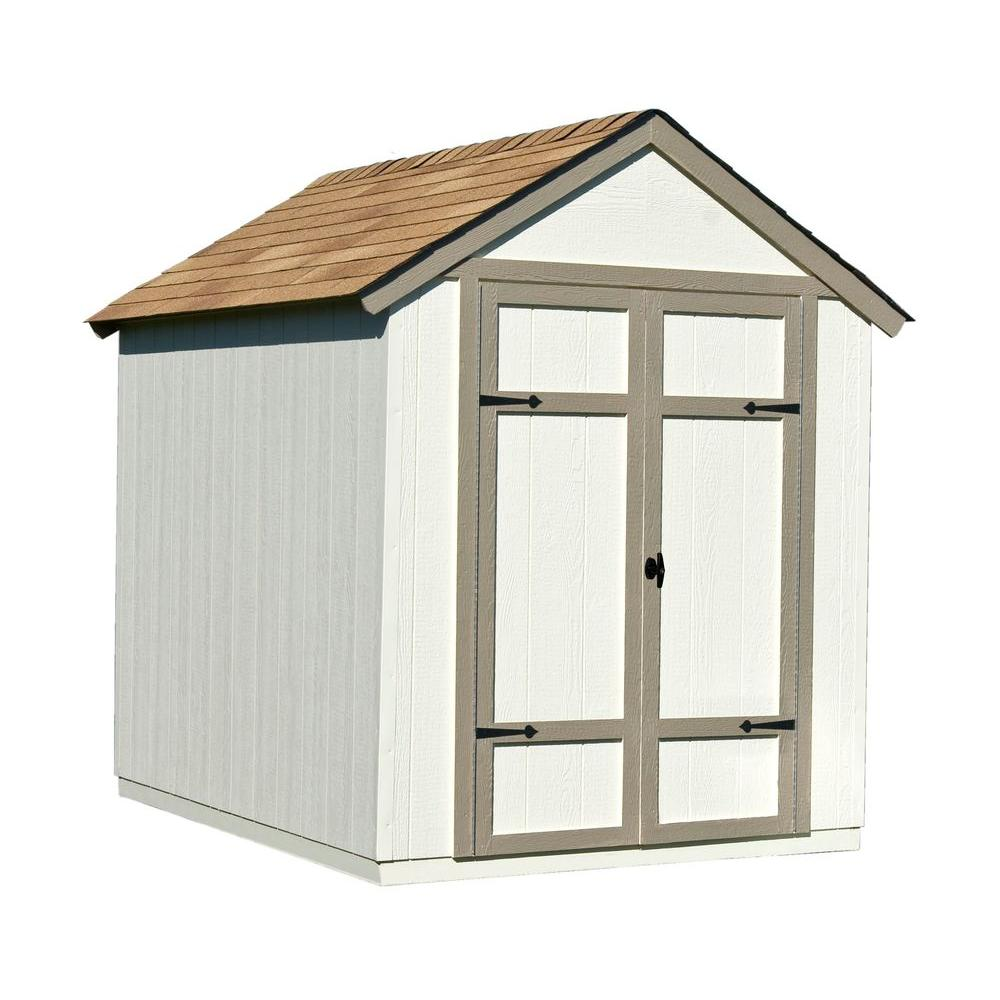 handy home products sherwood 6 ft x 8 ft wood shed kit with floor